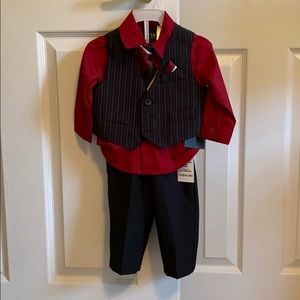Baby boy red dress suit